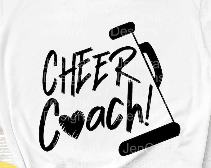Cheer svg Cheer Coach svg, Cheerleader svg biggest fan, megaphone svg, coach cheer svg design cut file clipart Eps Dxf Png Cricut Silhouette
