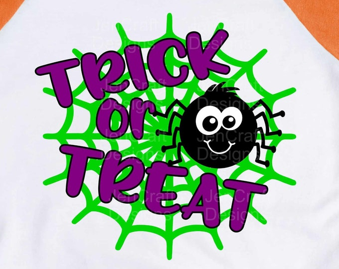 Trick or treat Halloween cute Spider svg, Cute Boy Spider svg Halloween SVG, Cute Boy Spider svg, eps, dxf, png cut files for Cricut