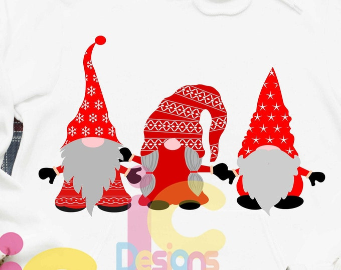 Christmas SVG, PNG, Gnome svg Clipart, cut files, Scandinavian Gnomes Clipart, Nordic Gnomes Clip Art, Tomte Nisse, Graphic PNG Design
