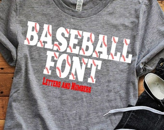 Baseball Font SVG, Baseball Monogram  font Svg, Eps, Dxf, Softball, Stitches, Mom, Dad, Silhouette Numbers Cricut monogram font, Silhouette