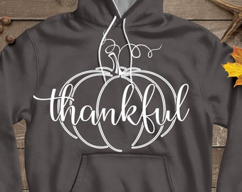Autumn Thankful Pumpkin SVG, Eps, Dxf, Png Cricut files Printable PNG Happy Thanksgiving Fall Greetings SVG Cricut