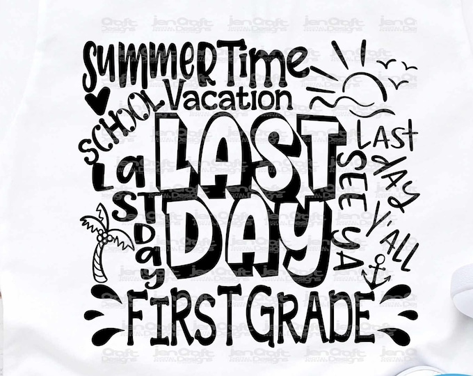 3rd Grade, Third Grade Last day svg Typography of School svg Summer Time Vacation SVG Sublimation Png Graduation EPS Student Dxf