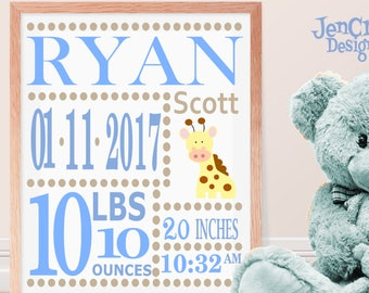 Boy Baby Birth Announcement SVG EPS DXf cut file set with fonts and letters Cricut Design Space Silhouette Digital Cut Files, Sibling