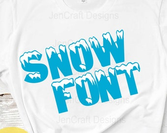Snow alphapack Monogram SVG Font Alphabet, Svg Fonts, Sublimation and cut file alphabet, Svg Dxf Eps, PNG Digital Cut Files Instant Download