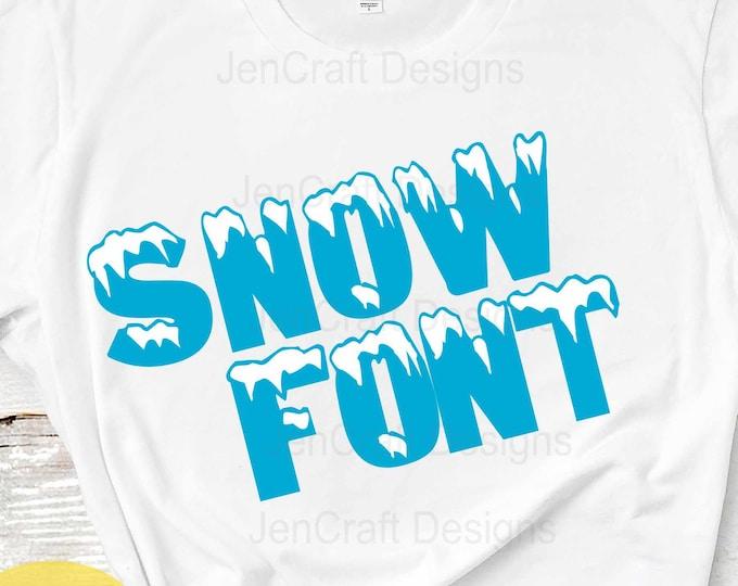 Snow alphapack Monogram SVG Font Alphabet, Svg Fonts, Sublimation and cut file alphabet, Svg Dxf Eps, PNG Digital Cut Files Instant Download