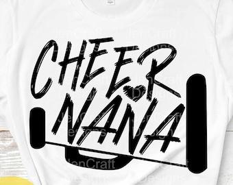 Cheer Nana svg, Cheer svg, biggest fan, megaphone svg, coach cheer svg design cut file cheerleader clipart Eps, Dxf Png Cricut Silhouette