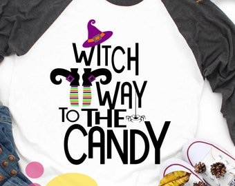 Halloween svg Witch Way to the Candy SVG Witch Shoes SVG HatTrick or treat Halloween Svg Legs, october fall svg Cut File svg, dxf, png