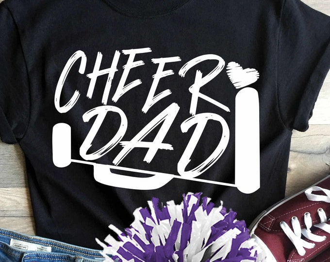 Cheer Dad svg, Cheer svg, biggest fan, megaphone svg, coach cheer svg design cut file cheerleader clipart Eps, Dxf Png Cricut Silhouette