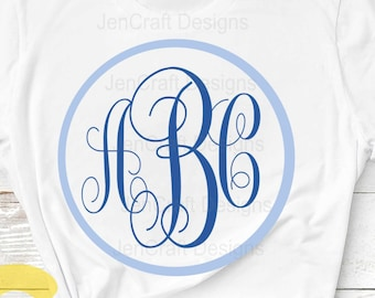 Curly monogram, Round Font SVG, DXF Eps, jpg Alphabet Cuttable svg, interlocking font. Silhouette, Cricut design space Instant Download