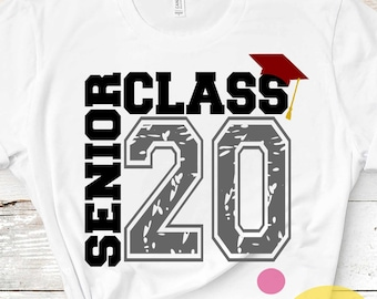 Senior Class of 2020 svg, Distressed  grunge Graduation SVG,  High School svg Graduation svg, Graduate svg, Grad Cap Eps Dxf Png Sublimation