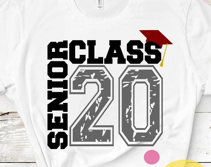 Senior SVG Class of 2020 svg, Distressed  grunge Graduation SVG, High School svg Graduation svg, Graduate Grad Cap Eps Dxf Png Sublimation