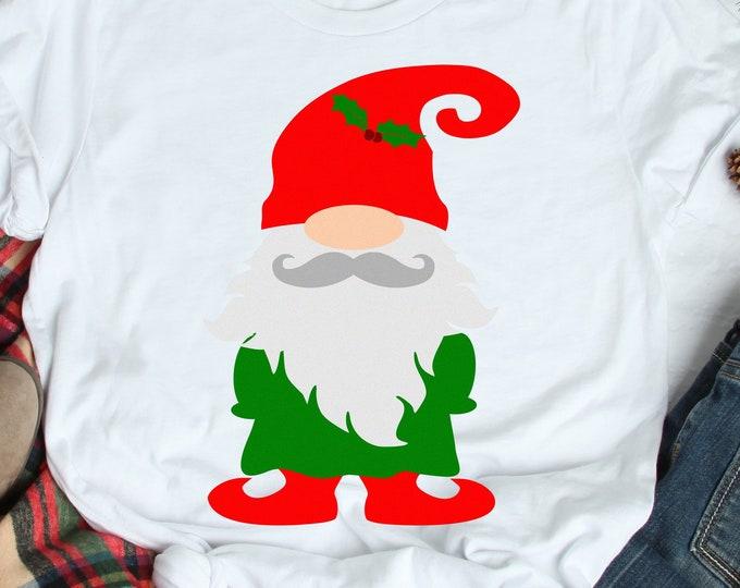 Nordic Gnome SVG Christmas SVG, Christmas Elf Gnome Clipart, Gnome svg, SVG Files, Eps, Dxf, Png Cricut SIlhouette cut file svg design
