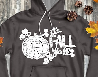 It's Fall Y'all Pumpkin SVG Autumn Distressed grunge SVG classic truck svg cut File, DXF, eps, png for Silhouette, Cricut Digital Cut Files