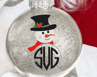 Snowman Monogram svg Popular Snowman face Svg, Christmas SVG Snow Man Digital cut file Dxf Eps Png Instant Download