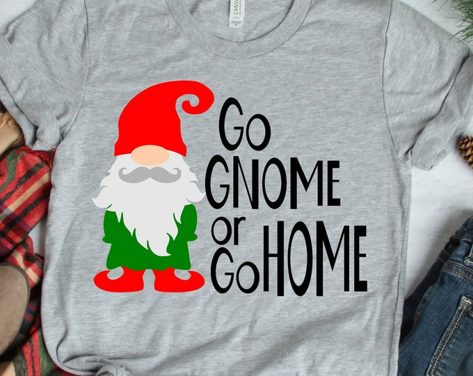 Nordic Gnome SVG, Go Gnome or go Home Grumpy Angry Elf Clipart, Gnome svg, SVG Files, Eps, Dxf, Png Cricut SIlhouette cut file svg design