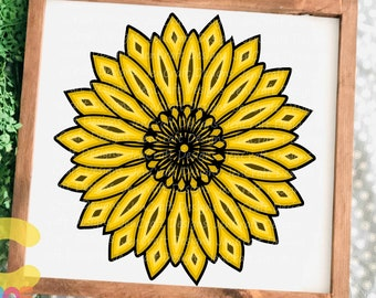 Sunflower SVG, 3D Mandala Layered Mandala svg Cricut Silhouette Digital vector download files Svg, Eps, Dxf Png cutting Paper Art Laser Cut