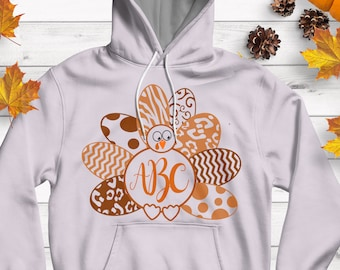 Layered Turkey Monogram Frame SVG,EPS Png DXF,  studio files for Cricut, Silhouette, Vinyl Cutters Screen Printing Cut Files, Print Then Cut