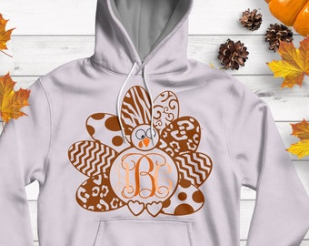 Turkey SVG Monogram Frame SVG,EPS Png Dxf,  studio files for Cricut, Silhouette, Vinyl Cutters and Screen Printing Cut Files, Print Then Cut