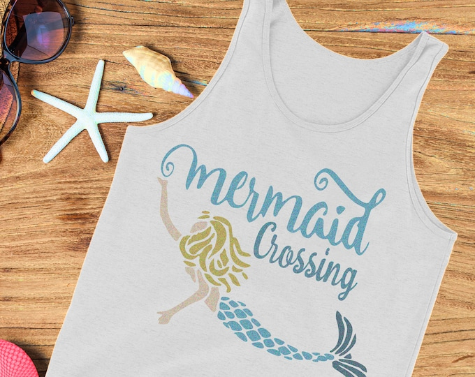 Mermaid Svg, Mermaid Crossing svg, mermaid life Beach Life svg Life svg waves svg scales summer svg, Eps, Dxf, Png beach life, Mermaid shirt