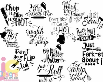 Kitchen svg budle, kitchen svg, svg file, for cricut, funny svg,  baking, quote, svg, chef, cooking svg quotes svg. eps, dxf png  Silhouette