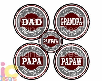 Fathers day SVG, Grandpa, Papa, Pawpaw, papaw, Dad Svg, The Legend The Myth Daddy, SVG DXF Eps Cricut Files Silhouette, Digital Cut Files