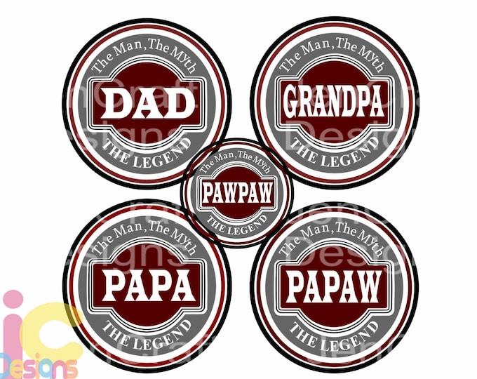 Fathers day SVG, Grandpa, Papa, Pawpaw, papaw, Dad Svg, The Legend The Myth Daddy, SVG DXF Eps Cricut Files Silhouette, Digital Cut Files