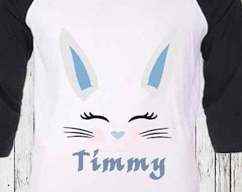Boy Bunny Eyelashes SVG, Easter Svg, Bunny Rabbit face svg, Birthday Shirt, Cut File, birthday decorations DXF Eps Png, Silhouette Cricut