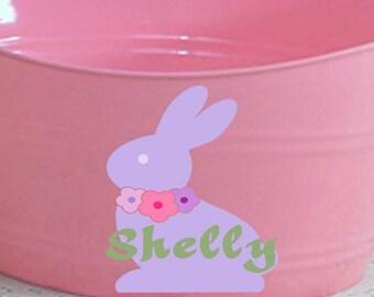 Floral Bunny svg, floral Svg, Easter Svg, Chocolate Rabbit Svg, eps, dxf, Spring SVG, EPS, DXF, Svg, Png, Cricut, Silhouette clip art