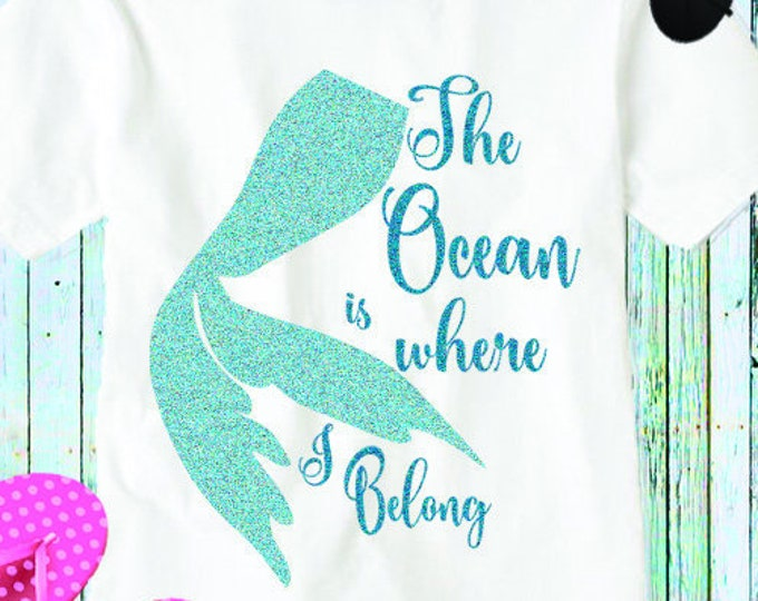 Mermaid Svg, The Ocean is where I belong, mermaid life Beach Life svg waves svg scales summer svg, Eps, Dxf, Png beach life, Mermaid shirt
