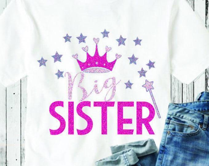 Big Sister SVG  Sibling Kids Family shirt design SVG, Eps DXf cut file set, Printable Png, Cricut Silhouette Digital Cut Files