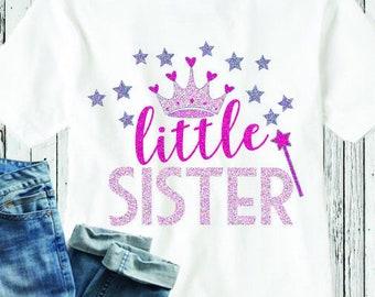 Little Sister SVG  Sibling Kids Child SVG EPS DXf cut file set, Printable Png, Cricut Design Space Silhouette Studio Digital Cut Files