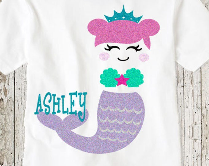 Mermaid svg, Birthday svg, mermaid face svg, svg mermaid popular svg, eyelashes Mermaid cricut file SVG, DXF, mermaid shirt, little girl svg