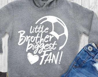 Little Brother Svg Soccer SVG Biggest Fan printable Sublimation shirt design soccer Sports Team Sibling cut file sis brother shirt