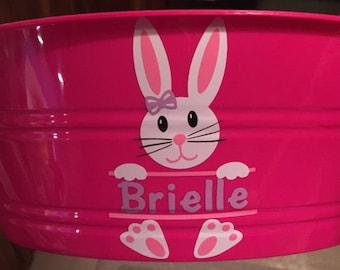 Easter Bunny Girl SVG, Split monogram frames svg, Easter Bunny Monogram svg, Monogram split Frames Svg Dxf Eps Silhouette Cricut