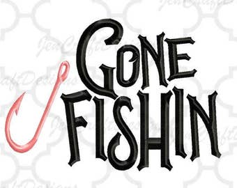 Fishin Embroidery Design, Fishing Hook Pes Instant Download digital file in PES, EXP, VIP, Hus, Xxx and Jef