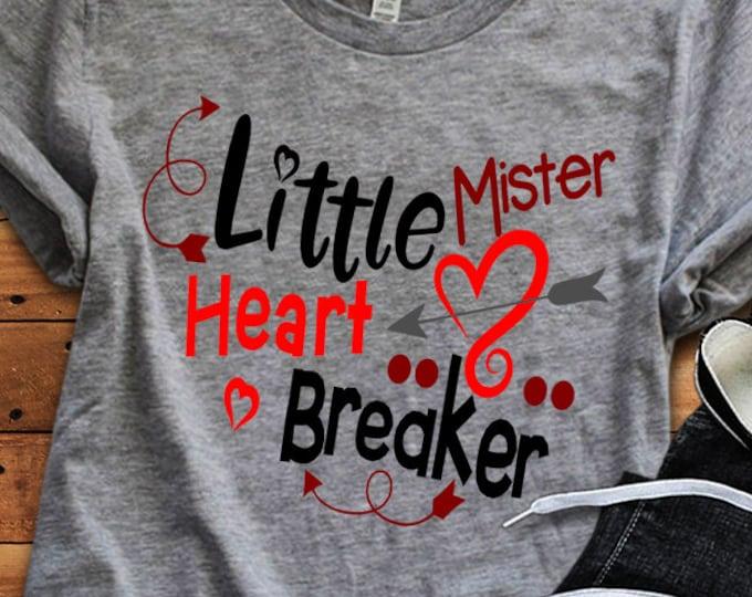 Little Mister Heart Breaker SVG, Valentine's Day Svg, Valentine Svg, Heart, Baby Boy, Love, Toddler, Svg, Dxf, Eps, Png, Cricut, Silhouette