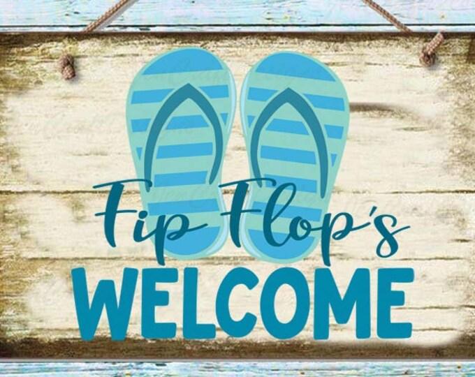 Flip Flops Svg, Welcome SVG, Summer Ocean Beach house sign design svg, cuttable Design, Cricut Silhouette SVG, Eps, Dxf, Studio, Png