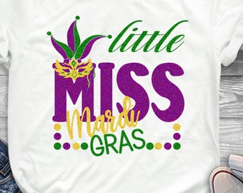 Little Miss Mardi Gras Svg Mardi Gras SVG Jester Crown New Orleans Svg Cuttable Design SVG EPS Png Dxf Cricut Silhouette Cut File Printable