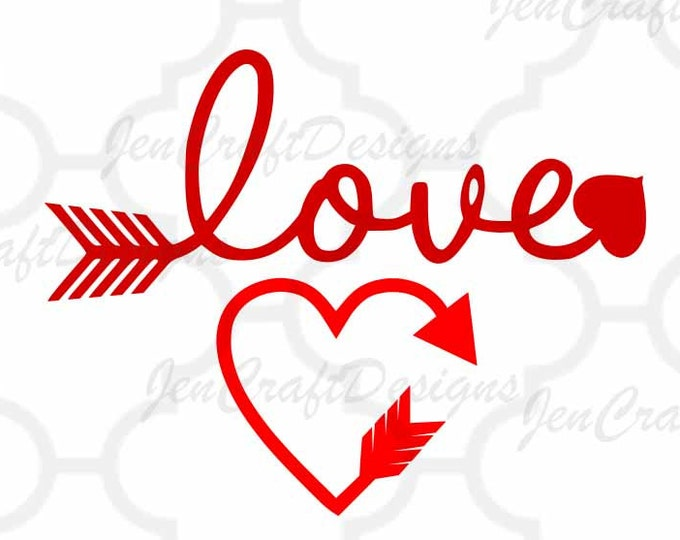 Love cupid arrow svg dxf eps png files, Valentines svg,heart files Cricut and silhouette, Love with arrow svg cutting files,wedding