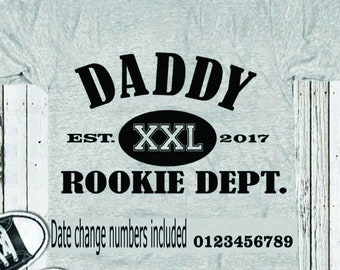 Daddy Rookie Dept SVG, Fathers Day SVG, Est. Shirt, Dad SVG Gift, Svg, Dxf, Studio3, Eps, printable Png Vector Art, Cricut Files, Silhouette