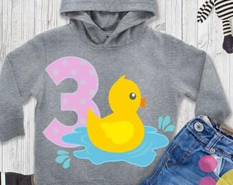 Third birthday svg, 3 rd birthday svg, three year old, three month svg, Duck birthday girl svg, Cut file, Clipart, sublimation Shirt design