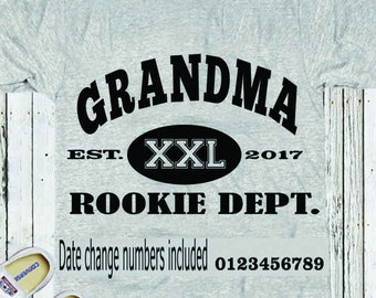 Grandma Rookie Dept SVG, Fathers Day SVG, Est. Shirt, Dad SVG Gift, Svg, Dxf, Studio3, Eps printable Png Vector Art Cricut Files, Silhouette