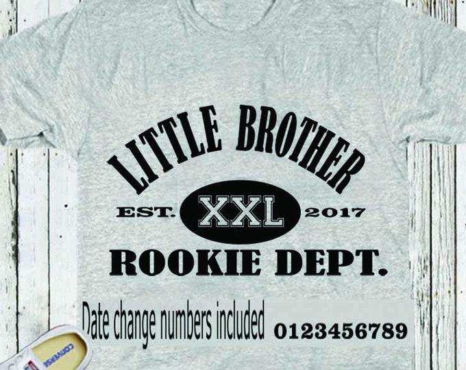 Little Brother Rookie Dept. SVG EPS DXf, Studio3 cut file set Printable Png Cricut Design Space Silhouette Studio Digital Cut Files, Sibling