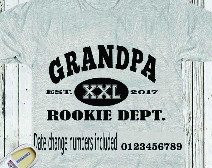 Grandpa Rookie Dept SVG, Fathers Day SVG, Est. Shirt, Dad SVG Gift, Svg, Dxf, Studio3, Eps printable Png Vector Art Cricut Files, Silhouette