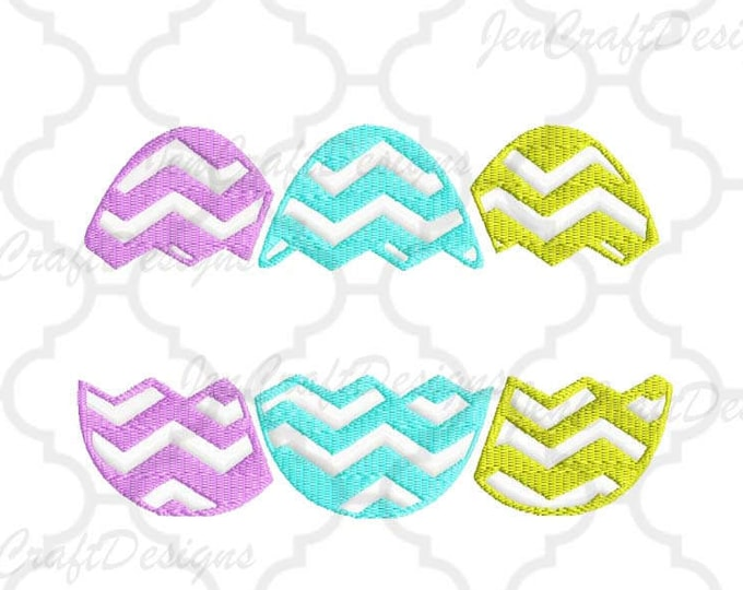 Easter Chevron Split Egg Monogram Embroidery Design, Easter Instant Download digital file in PES, EXP, VIP, Hus, Xxx and Jef