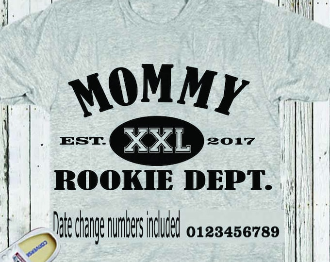 Mom SVG, Mommy Rookie Dept Svg, t-shirt design Mothers Day SVG, Gift, SVG, Dxf, Eps, printable Png Vector Art, Cricut Files, Silhouette