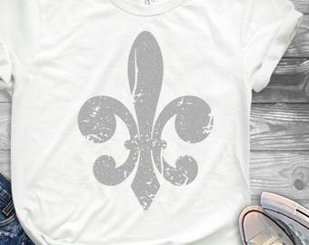 Mardi Gras svg Fleur De Lis svg, Distressed Grunge Mardi Gras svg, DXF, EPS shirt, Louisiana, Fat Tuesday Cricut Silhouette