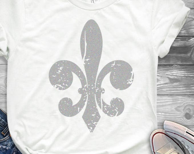 Fleur De Lis svg, Distressed Grunge Mardi Gras svg, Kids Mardi Gras SVG, DXF, EPS shirt, Louisiana, Fat Tuesday Cricut Silhouette