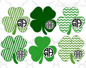 Shamrock svg Monogram leprechaun svg Design St Paddy's Day St. Patrick's Day Monogram SVG Cut Design,svg,dxf,png Silhouette & Cricut