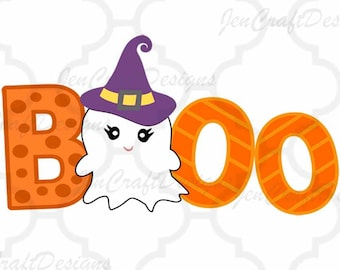 Boo Ghost svg Halloween saying, ghost svg, halloween svg, fall autumn svg eps dxf, girly, baby, PNG, Cricut, Silhouette, Cut File Clip art